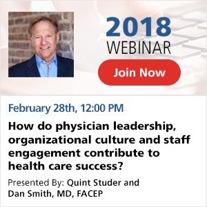 Physician Leadership Webinar 2018